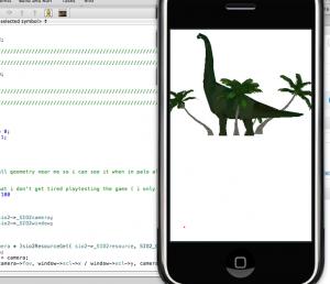 View of my AR app work in progres